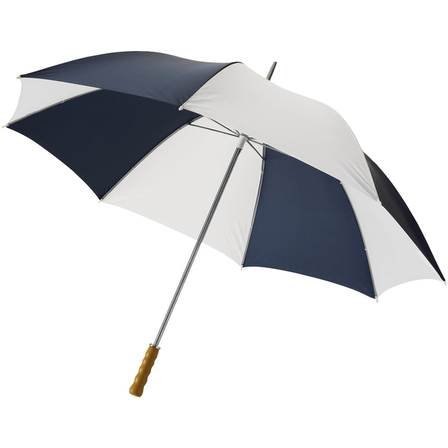 Navy-White - Front - Bullet 30in Golf Umbrella (Pack of 2)