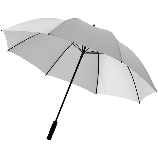 Silver - Front - Bullet 30in Yfke Storm Umbrella (Pack of 2)