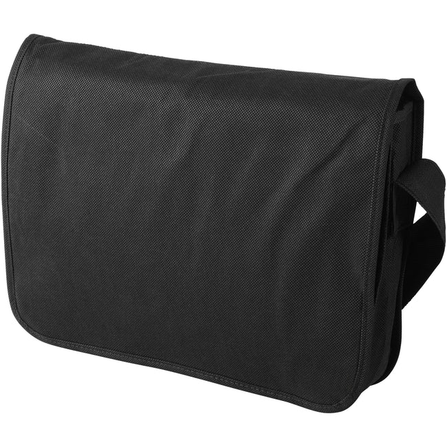 Solid Black - Front - Bullet Mission Non Woven Shoulder Bag (Pack of 2)