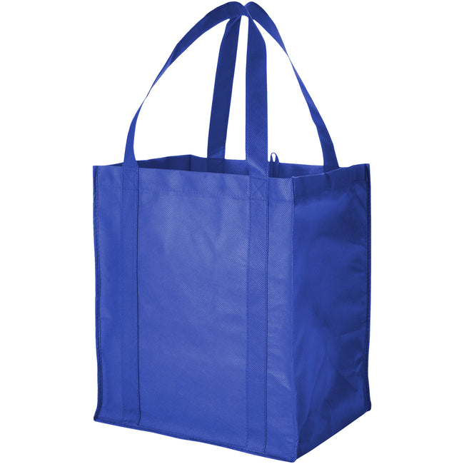 Royal Blue - Front - Bullet Liberty Non Woven Grocery Tote (Pack of 2)