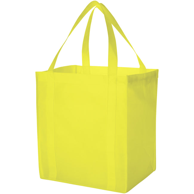 Lime Green - Front - Bullet Liberty Non Woven Grocery Tote (Pack of 2)