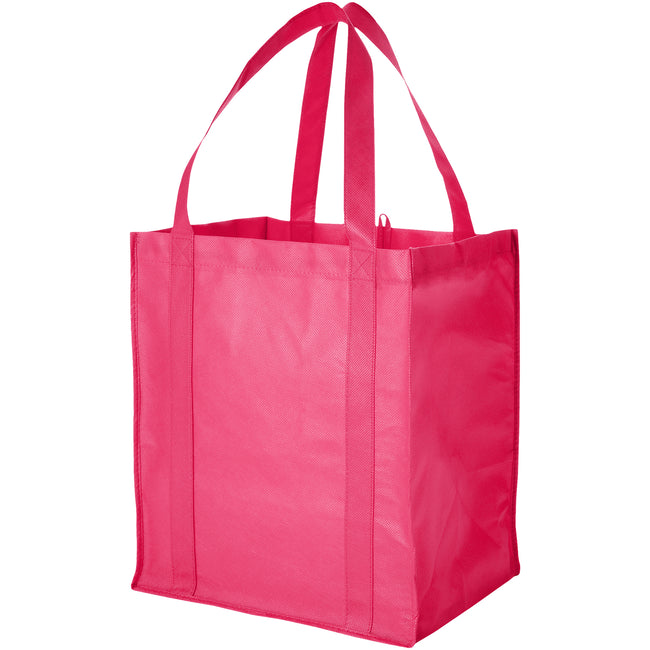 Cerise - Front - Bullet Liberty Non Woven Grocery Tote (Pack of 2)