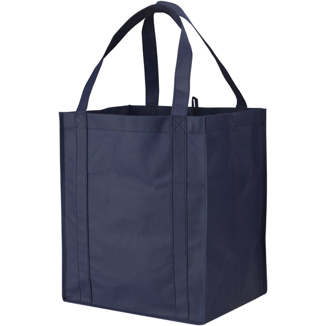 Navy - Front - Bullet Liberty Non Woven Grocery Tote (Pack of 2)
