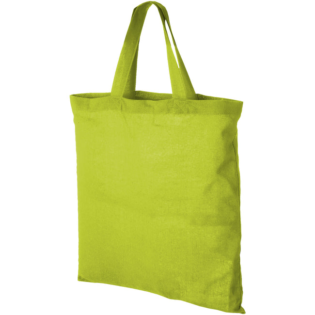 Apple Green - Front - Bullet Virginia Cotton Tote (Pack of 2)
