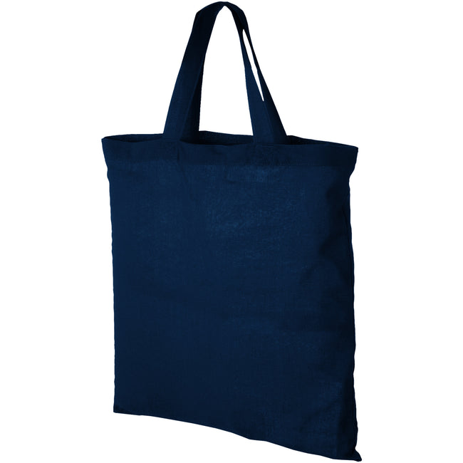 Navy - Front - Bullet Virginia Cotton Tote (Pack of 2)
