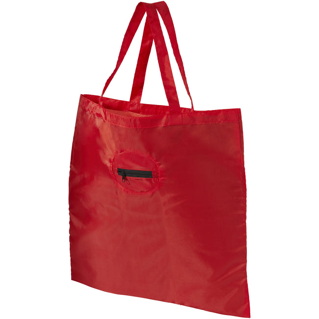 Red - Front - Bullet Take Away Foldable Shopper Tote (Pack of 2)