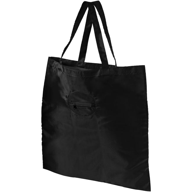 Solid Black - Front - Bullet Take Away Foldable Shopper Tote (Pack of 2)