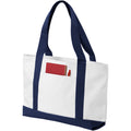 White-Navy - Front - Bullet Madison Tote (Pack of 2)