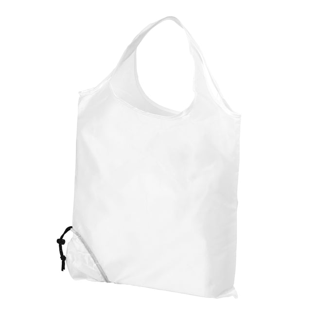 White - Front - Bullet Scrunchy Shopping Tote Bag