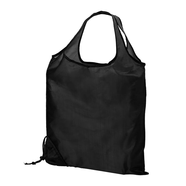 Solid Black - Front - Bullet Scrunchy Shopping Tote Bag