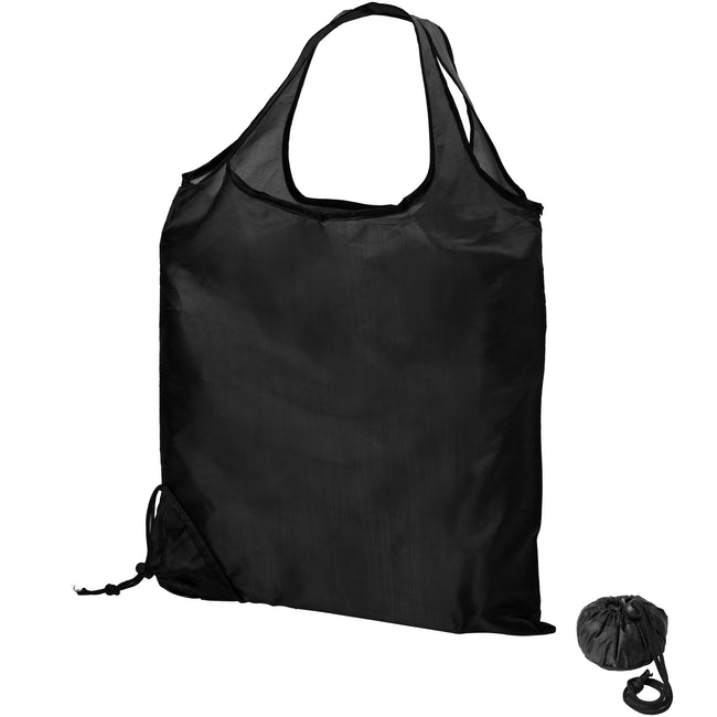 Solid Black - Back - Bullet Scrunchy Shopping Tote Bag