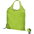 Lime - Back - Bullet Scrunchy Shopping Tote Bag