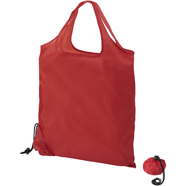 Red - Back - Bullet Scrunchy Shopping Tote Bag