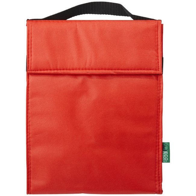 Red - Front - Bullet Triangle Non Woven Lunch Cooler Bag