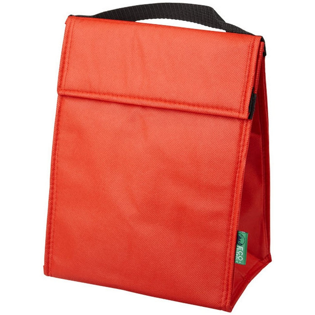 Red - Back - Bullet Triangle Non Woven Lunch Cooler Bag