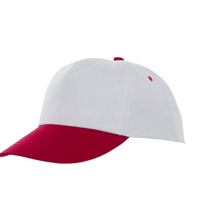 Red-White - Front - Bullet Icarus 5 Panel Cap