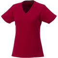 Red - Front - Elevate Womens-Ladies Amery Short Sleeve Cool Fit V-Neck T Shirt