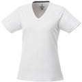 White - Front - Elevate Womens-Ladies Amery Short Sleeve Cool Fit V-Neck T Shirt