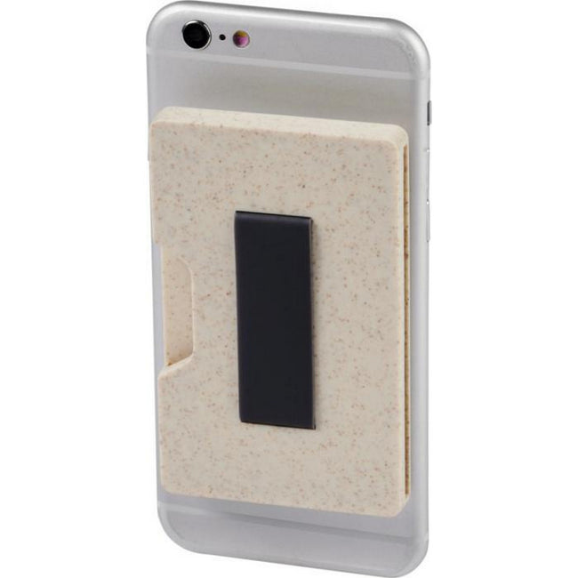 Beige - Side - Bullet Grass RFID Multi-card Holder
