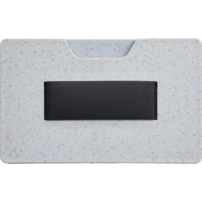 Grey - Front - Bullet Grass RFID Multi-card Holder
