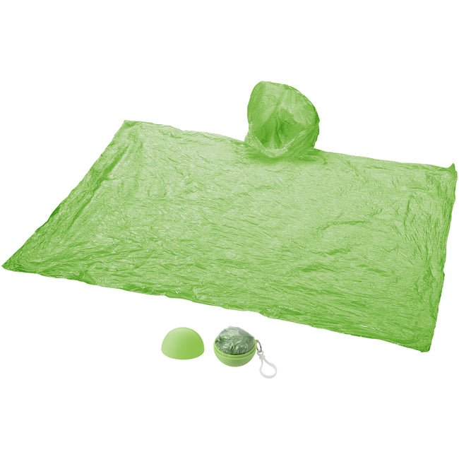 Lime - Front - Bullet Adults Xina Rain Poncho