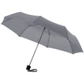 Grey - Front - Bullet 21.5in Ida 3-Section Umbrella