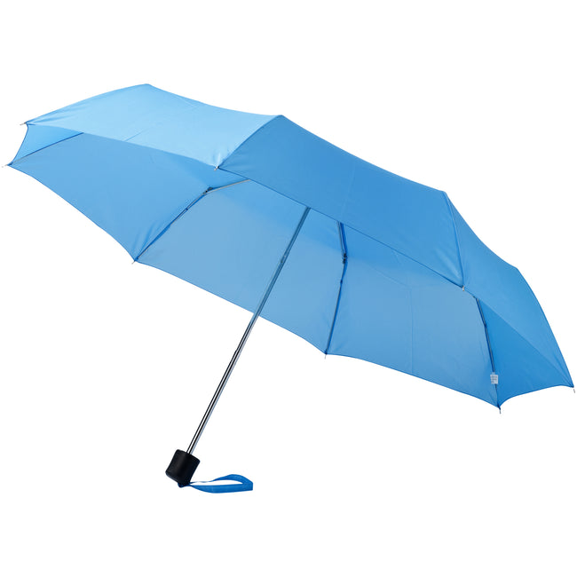 Blue - 24 x 97 cm - Front - Bullet 21.5in Ida 3-Section Umbrella
