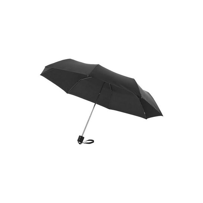 Black - Front - Bullet 21.5in Ida 3-Section Umbrella