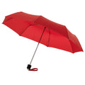 Red - Front - Bullet 21.5in Ida 3-Section Umbrella