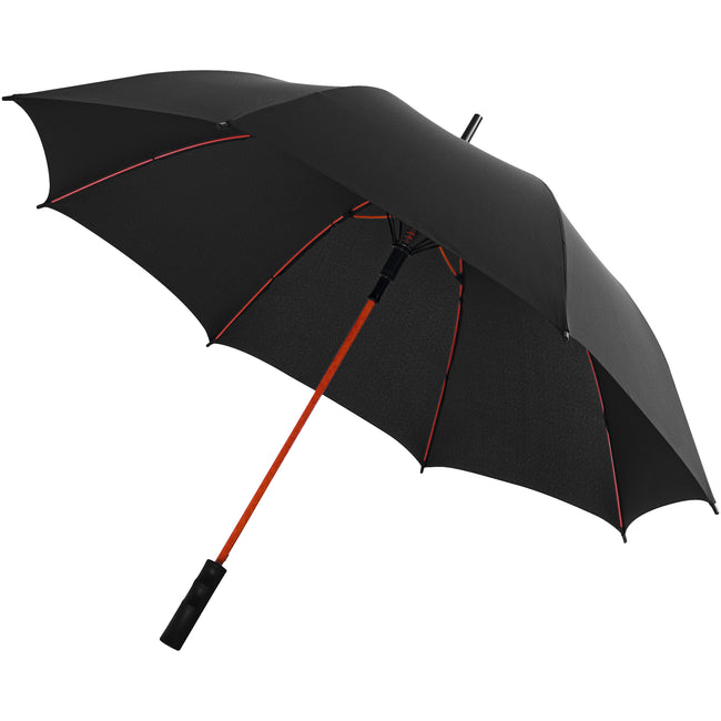 Solid Black-Red - Front - Avenue 23 Inch Spark Auto Open Storm Umbrella