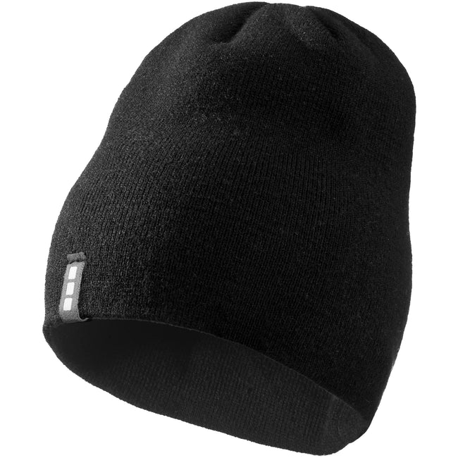 Solid Black - Front - Elevate Level Beanie