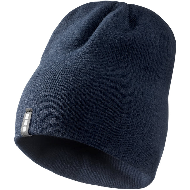 Navy - Front - Elevate Level Beanie