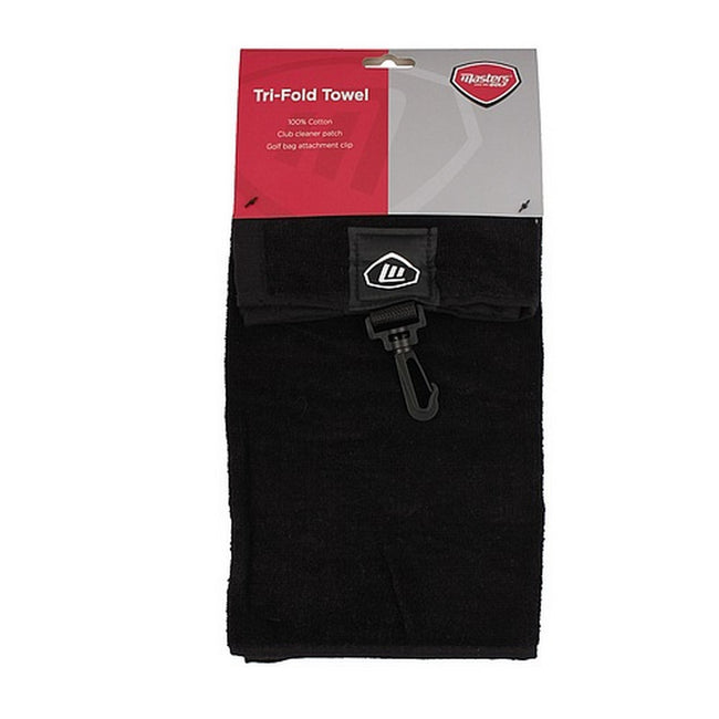 Black - Back - Masters Tri-Fold Golf Towel
