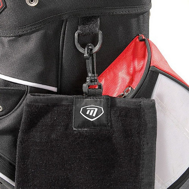 Black - Side - Masters Tri-Fold Golf Towel