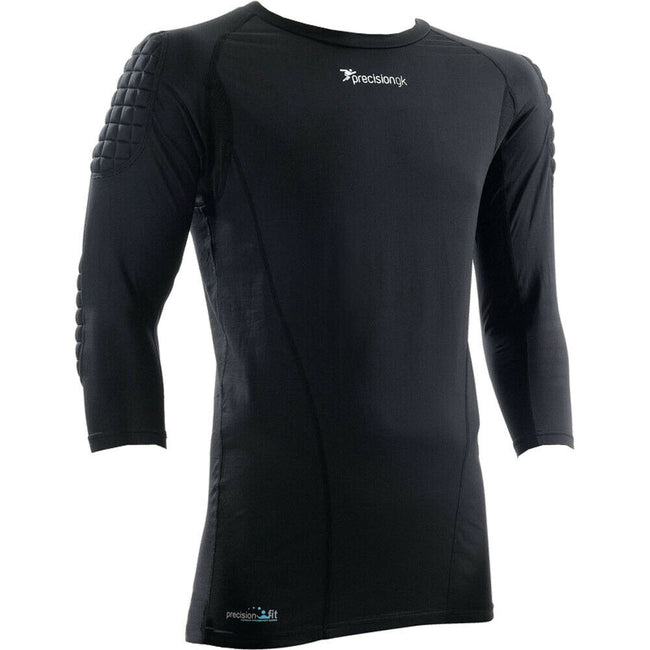 Black - Front - Precision Unisex Adult Goalkeeper Thermal Base Layers