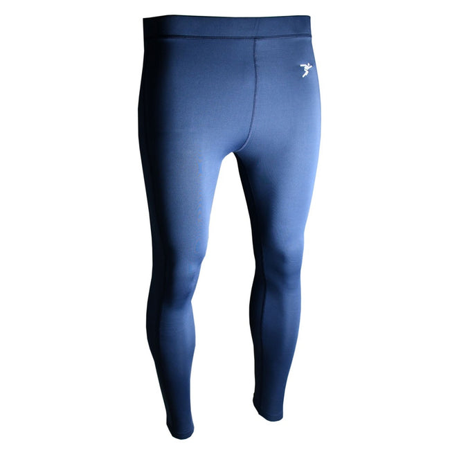 Navy - Front - Precision Unisex Adult Essential Baselayer Sports Leggings