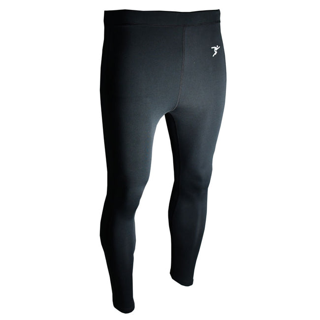 Black - Front - Precision Unisex Adult Essential Baselayer Sports Leggings