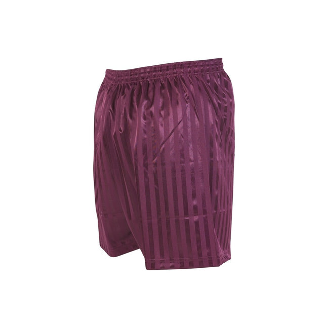 Maroon - Front - Precision Unisex Adult Continental Striped Football Shorts