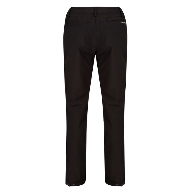 Black - Close up - Regatta Great Outdoors Womens-Ladies Geo Softshell II Long Leg Trousers