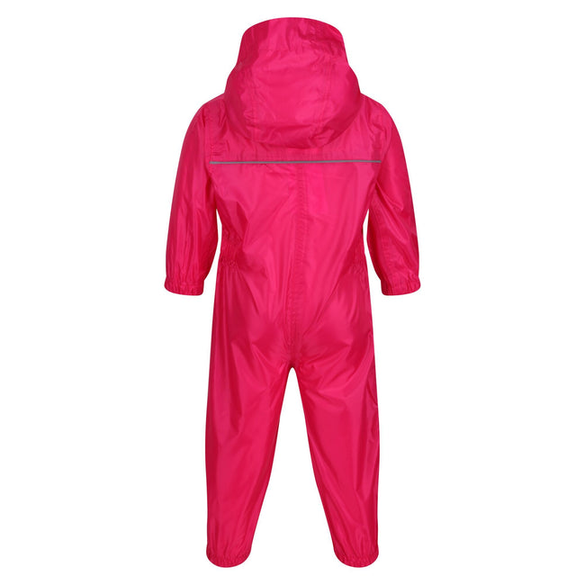 Classic Red - Back - Regatta Professional Baby-Kids Paddle All In One Rain Suit