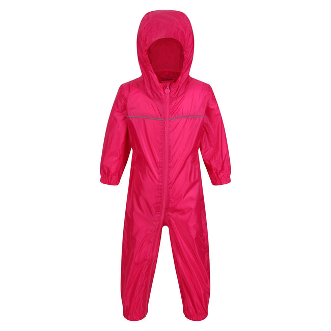 Classic Red - Front - Regatta Professional Baby-Kids Paddle All In One Rain Suit