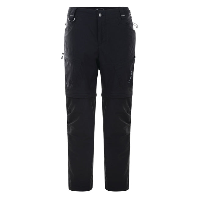 Black - Back - Dare2B Mens Tuned In Zip Off Trousers
