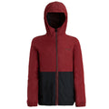 Wine Red-Jet Black - Front - Regatta Childrens-Kids Akiro Hooded Jacket