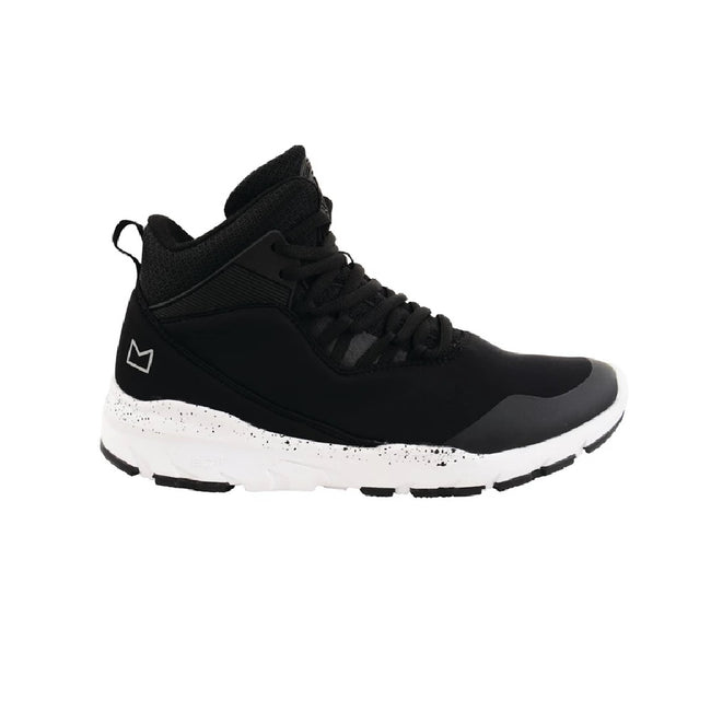 Black-White - Side - Dare 2B Childrens-Boys Uno Millenium Mid Trainers