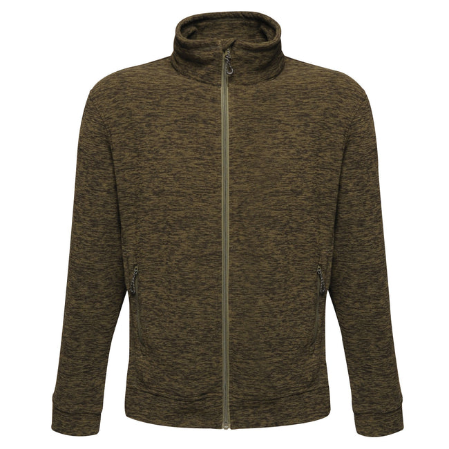 Dark Khaki Marl - Front - Regatta Mens Thornly Full Zip Fleece