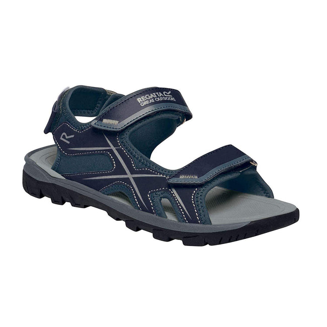 Navy-Dark Steel - Front - Regatta Mens Kota Drift Open Toe Sandals