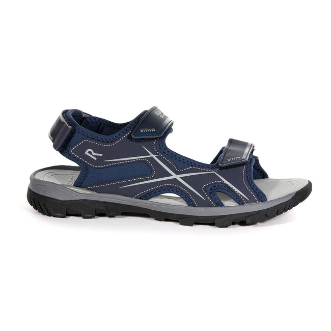 Navy-Dark Steel - Back - Regatta Mens Kota Drift Open Toe Sandals