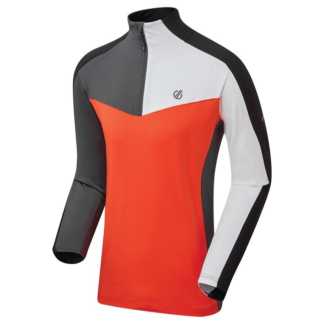 Trail Blaze Red-Black - Close up - Dare 2B Mens Depose Stretch Midlayer