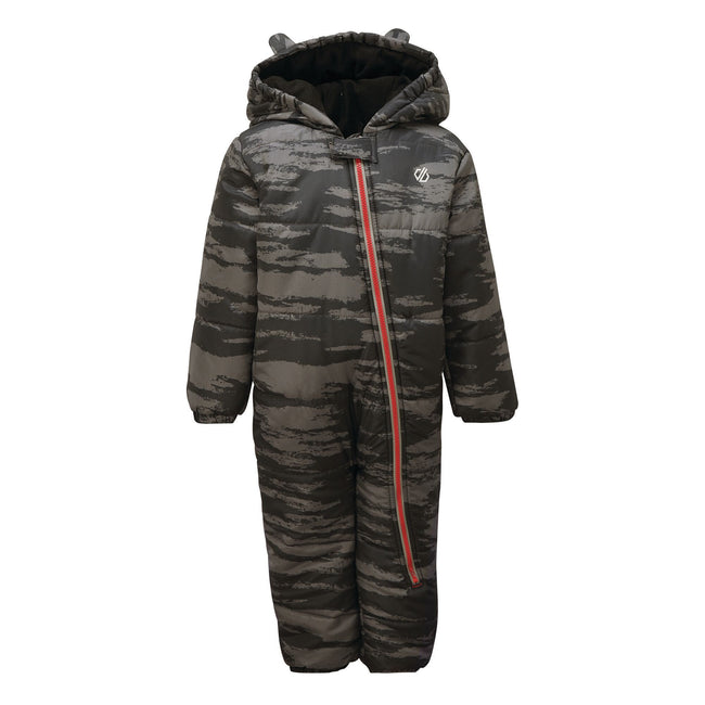 Ebony Grey - Front - Dare 2B Childrens-Kids Bambino Camo Snowsuit