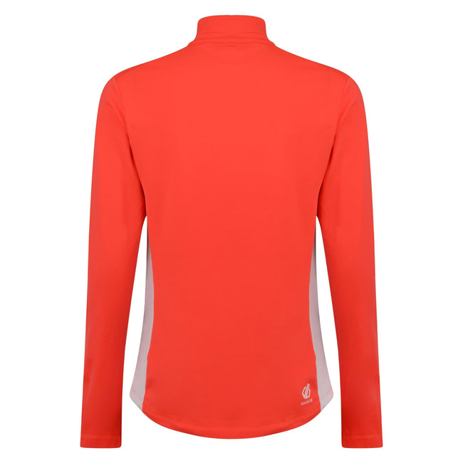 Fiery Coral-Charcoal - Back - Dare 2B Womens-Ladies Default Core Stretch Half Zip Mid-layer